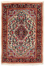 Kerman Rug 97X141 Authentic  Oriental Handknotted Black/Dark Red (Wool, Persia/Iran)