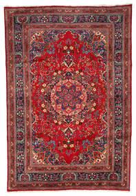 Mashad Rug 199X297 Authentic  Oriental Handknotted Dark Red/Dark Brown (Wool, Persia/Iran)