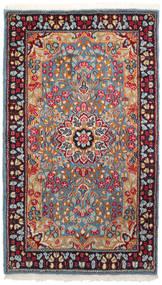 Kerman Rug 90X155 Authentic  Oriental Handknotted Dark Red/Light Grey (Wool, Persia/Iran)