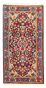 Kerman Rug 58X112 Authentic  Oriental Handknotted Dark Red/Light Pink (Wool, Persia/Iran)