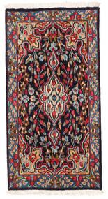 Kerman Rug 58X114 Authentic Oriental Handknotted Dark Red/Black (Wool, Persia/Iran)