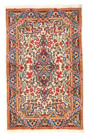 Kerman Rug 90X140 Authentic  Oriental Handknotted Light Grey/Beige (Wool, Persia/Iran)
