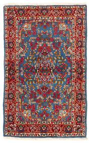 Kerman Rug 92X149 Authentic  Oriental Handknotted Dark Red/Blue (Wool, Persia/Iran)