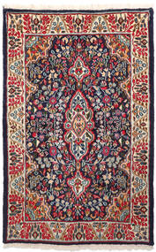 Kerman Rug 91X146 Authentic  Oriental Handknotted Dark Purple/Dark Red (Wool, Persia/Iran)