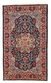 Kerman Rug 122X208 Authentic  Oriental Handknotted Dark Red/Dark Purple (Wool, Persia/Iran)