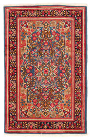 Kerman Rug 117X184 Authentic  Oriental Handknotted Rust Red/White/Creme (Wool, Persia/Iran)
