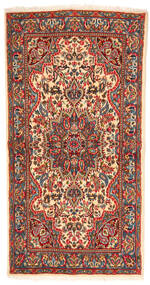 Kerman Rug 113X219 Authentic  Oriental Handknotted Dark Brown/Rust Red (Wool, Persia/Iran)