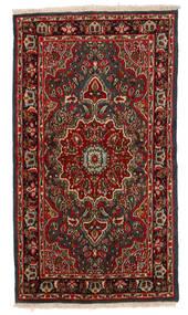 Kerman Rug 114X205 Authentic  Oriental Handknotted Dark Brown/Dark Red (Wool, Persia/Iran)