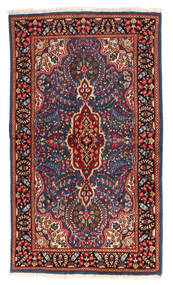Kerman Rug 118X208 Authentic  Oriental Handknotted Dark Red/Dark Grey (Wool, Persia/Iran)