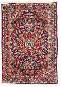 Kerman Rug 123X180 Authentic  Oriental Handknotted Dark Purple/Rust Red (Wool, Persia/Iran)