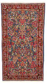 Kerman Rug 113X213 Authentic  Oriental Handknotted Dark Grey/Dark Red (Wool, Persia/Iran)