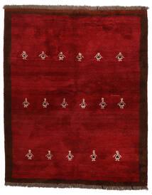 Gabbeh Persia Rug 155X190 Authentic Modern Handknotted Dark Red/Crimson Red (Wool, Persia/Iran)