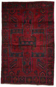 Lori Rug 158X250 Authentic Oriental Handknotted Dark Red/Crimson Red (Wool, Persia/Iran)