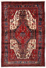 Nahavand Rug 161X235 Authentic  Oriental Handknotted Dark Red (Wool, Persia/Iran)