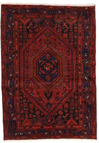 Zanjan Rug 139X200 Authentic Oriental Handknotted Dark Red/Rust Red (Wool, Persia/Iran)