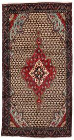 Koliai Rug 160X305 Authentic  Oriental Handknotted Hallway Runner  Light Brown/Black (Wool, Persia/Iran)