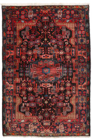 Nahavand Rug 152X245 Authentic  Oriental Handknotted Dark Red/Black (Wool, Persia/Iran)