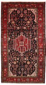 Nahavand Rug 156X286 Authentic  Oriental Handknotted Dark Red/Dark Brown (Wool, Persia/Iran)