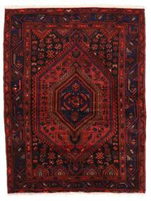 Zanjan Rug 142X190 Authentic  Oriental Handknotted Dark Red (Wool, Persia/Iran)