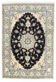 Nain Rug 170X250 Authentic  Oriental Handknotted White/Creme/Black (Wool, Persia/Iran)