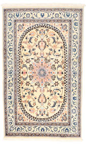 Nain Rug 150X250 Authentic  Oriental Handknotted Beige/Light Grey (Wool, Persia/Iran)