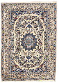 Nain Rug 162X228 Authentic  Oriental Handknotted Light Grey/Beige (Wool, Persia/Iran)