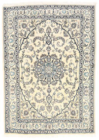 Nain Rug 165X238 Authentic  Oriental Handknotted Beige/Light Grey (Wool, Persia/Iran)