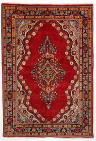 Mahal Rug 135X200 Authentic  Oriental Handknotted Rust Red/Dark Brown (Wool, Persia/Iran)