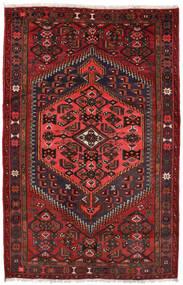 Zanjan Rug 127X198 Authentic  Oriental Handknotted Dark Red/Black (Wool, Persia/Iran)