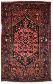 Zanjan Rug 130X218 Authentic  Oriental Handknotted Dark Red (Wool, Persia/Iran)