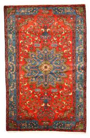 Nahavand Old Rug 158X246 Authentic Oriental Handknotted Dark Red/Light Grey (Wool, Persia/Iran)