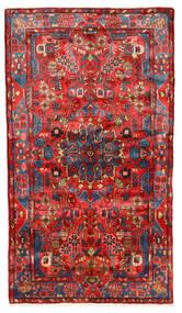 Nahavand Old Rug 152X272 Authentic Oriental Handknotted Dark Red/Crimson Red (Wool, Persia/Iran)