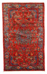 Nahavand Old Rug 152X245 Authentic  Oriental Handknotted Dark Red/Crimson Red (Wool, Persia/Iran)