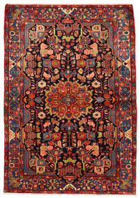 Nahavand Old Rug 160X230 Authentic Oriental Handknotted Dark Red/Rust Red (Wool, Persia/Iran)