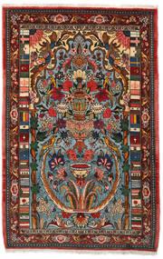 Bakhtiari Collectible Rug 103X158 Authentic  Oriental Handknotted Dark Brown/Dark Turquoise   (Wool, Persia/Iran)