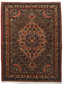 Bakhtiari Collectible Rug 113X144 Authentic  Oriental Handknotted Dark Brown/Dark Red (Wool, Persia/Iran)