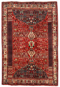 Shiraz Rug 194X290 Authentic  Oriental Handknotted Dark Red/Rust Red (Wool, Persia/Iran)