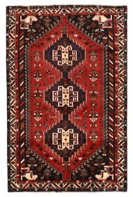 Shiraz Rug 160X247 Authentic  Oriental Handknotted Black/Dark Red/Rust Red (Wool, Persia/Iran)