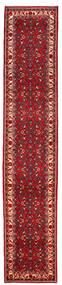 Hosseinabad Rug 70X370 Authentic  Oriental Handknotted Hallway Runner  Dark Red/Crimson Red (Wool, Persia/Iran)