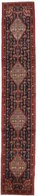 Senneh Rug 61X341 Authentic  Oriental Handknotted Hallway Runner  Dark Red/Brown (Wool, Persia/Iran)