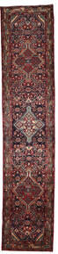 Hosseinabad Rug 81X388 Authentic  Oriental Handknotted Hallway Runner  Dark Red/Dark Brown (Wool, Persia/Iran)