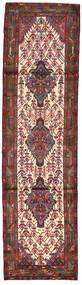 Hamadan Rug 83X307 Authentic  Oriental Handknotted Hallway Runner  Dark Red/Dark Brown (Wool, Persia/Iran)