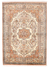Kashmir Pure Silk Rug 129X182 Authentic  Oriental Handknotted Light Pink/Yellow (Silk, India)