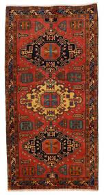 Ardebil Rug 148X293 Authentic  Oriental Handknotted Hallway Runner  Dark Brown/Rust Red (Wool, Persia/Iran)