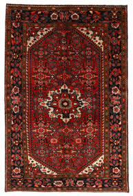 Hosseinabad Rug 147X225 Authentic Oriental Handknotted Dark Red/Rust Red (Wool, Persia/Iran)
