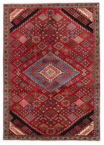 Saveh Rug 138X196 Authentic Oriental Handknotted Dark Red/Dark Brown (Wool, Persia/Iran)