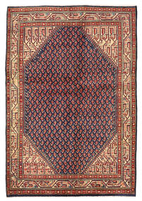 Sarouk Mir Rug 139X203 Authentic Oriental Handknotted Dark Red/Black (Wool, Persia/Iran)