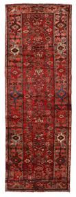 Hamadan Rug 107X311 Authentic  Oriental Handknotted Hallway Runner  Dark Red/Rust Red (Wool, Persia/Iran)