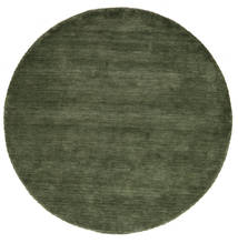 Handloom - Forest Green Rug Ø 200 Modern Round Dark Green (Wool, India)