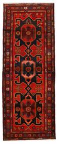 Hamadan Rug 107X292 Authentic  Oriental Handknotted Hallway Runner  Dark Brown/Dark Red/Rust Red (Wool, Persia/Iran)